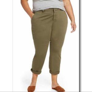 NWT Caslon Chino Pants Olive Sarma Soft Twill New